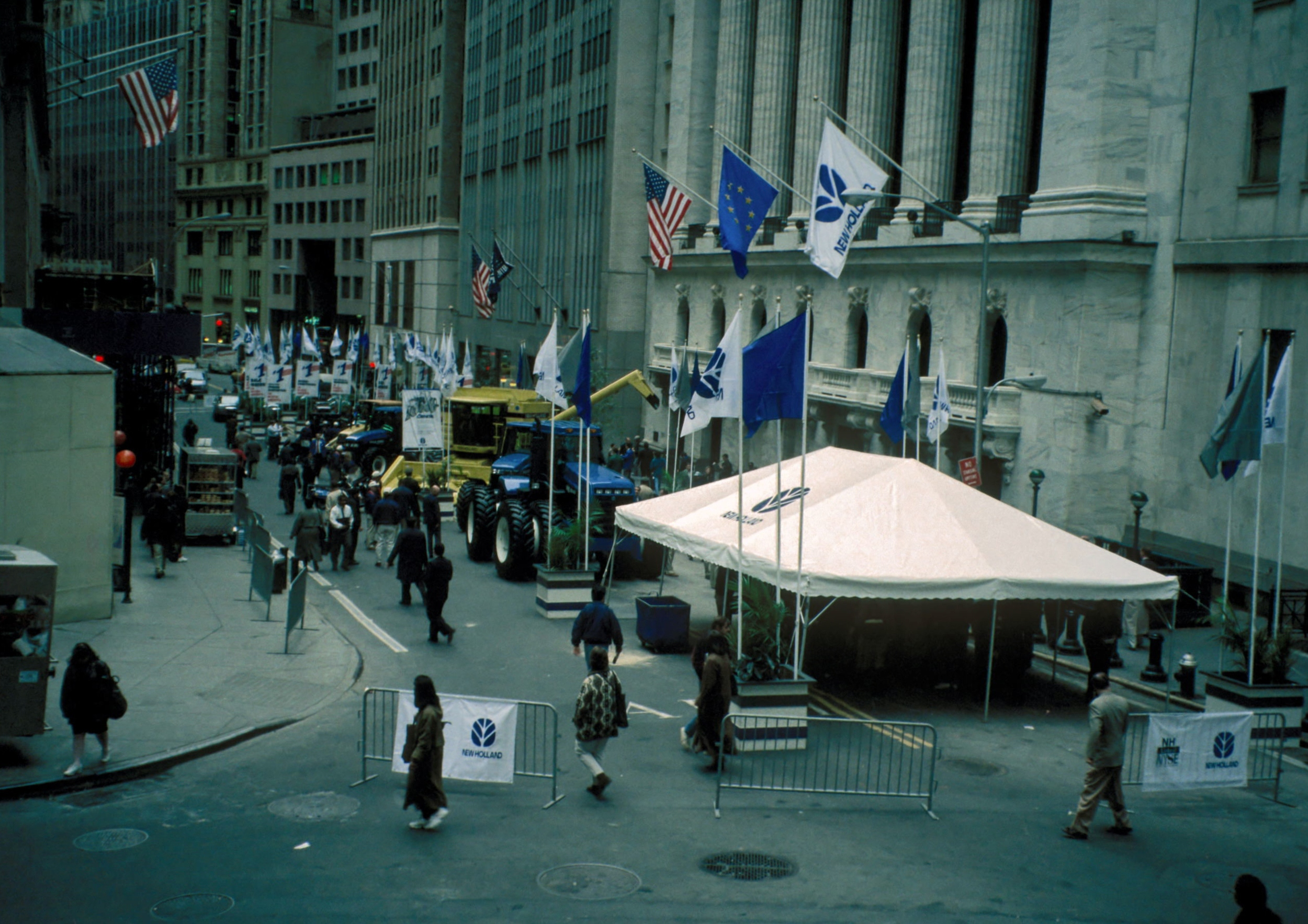 A tent on Wall Street