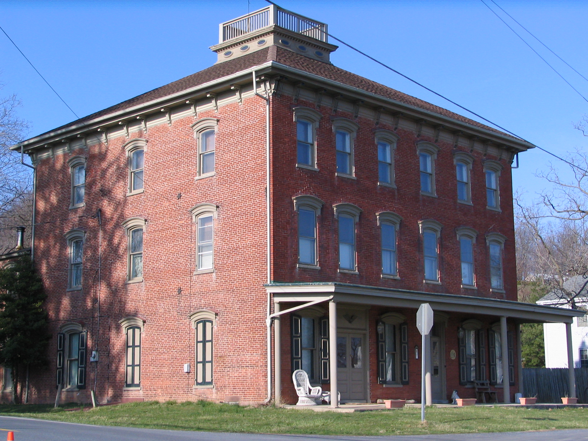 At first, tents were stored in the front room of the historic Durlach Hotel.