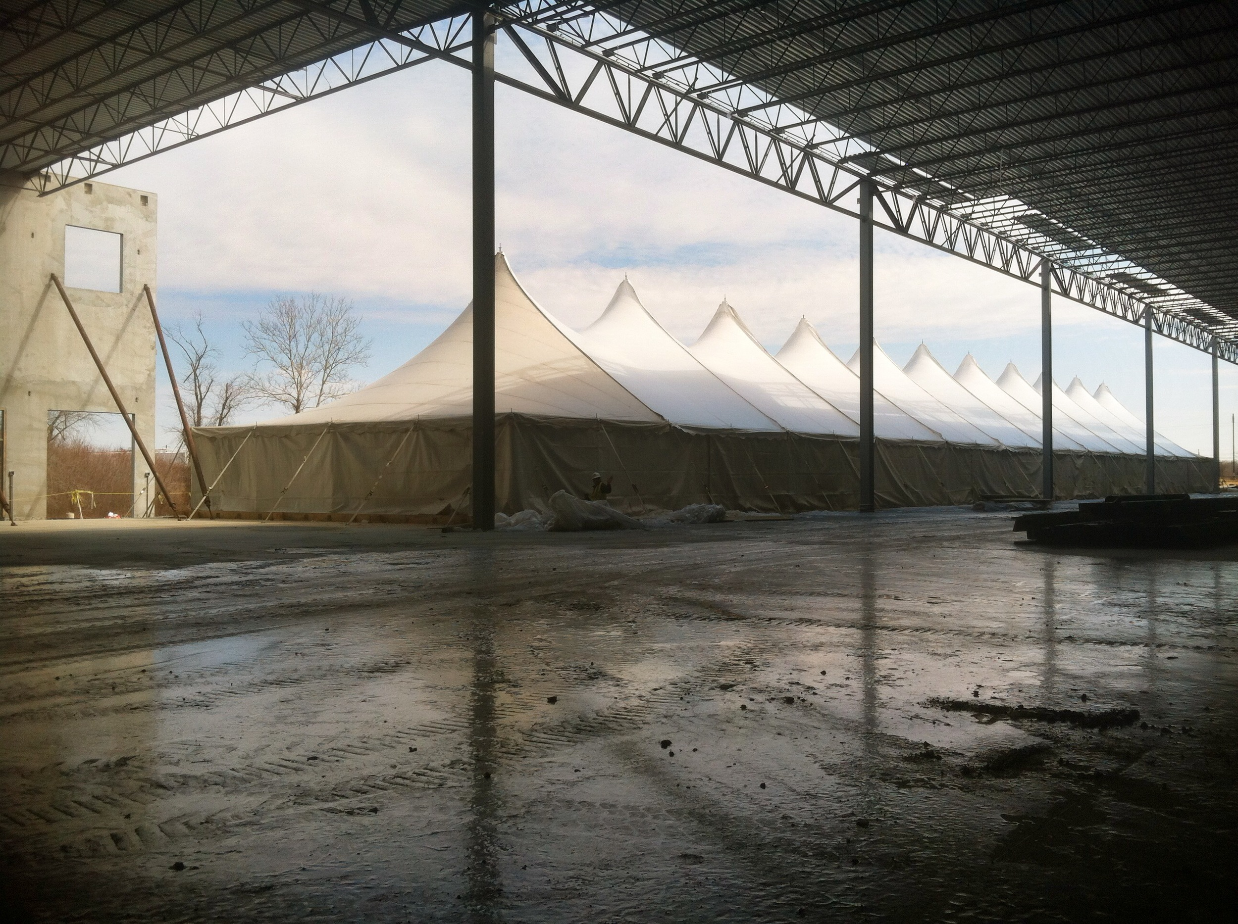 Heated Construction Tent