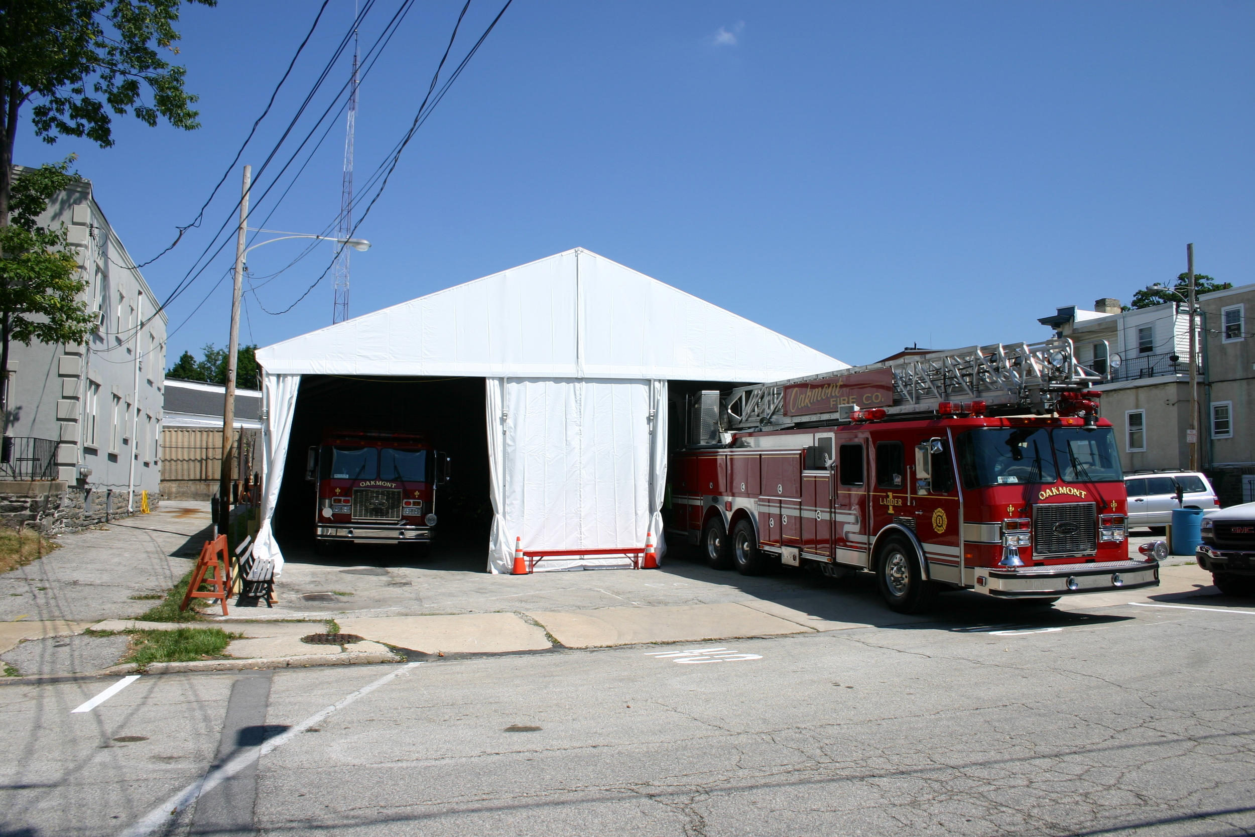 Temporary Firehouse Tent