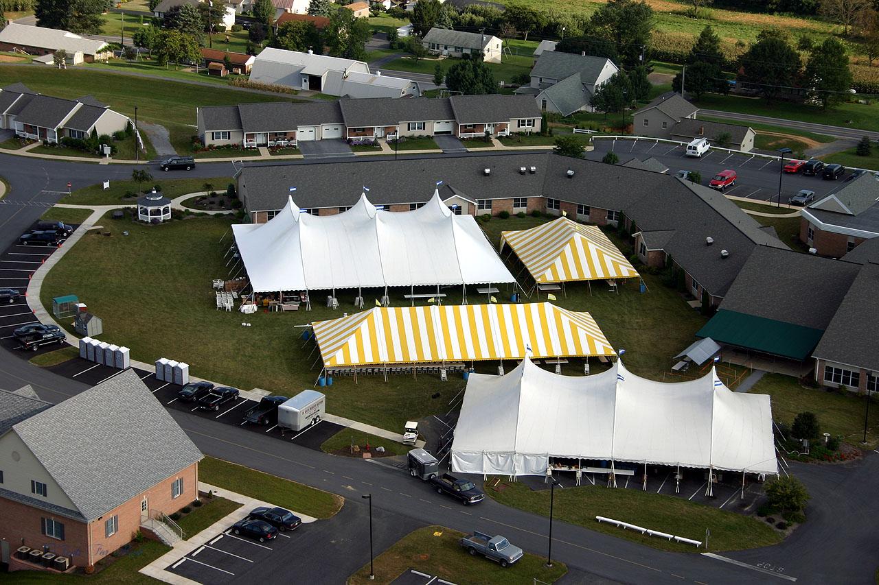 Large fundraiser auction tents