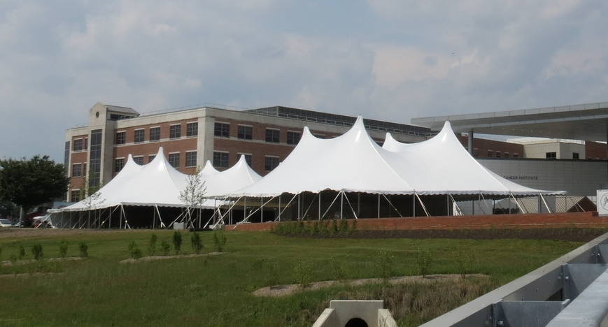 Large fundraiser tents