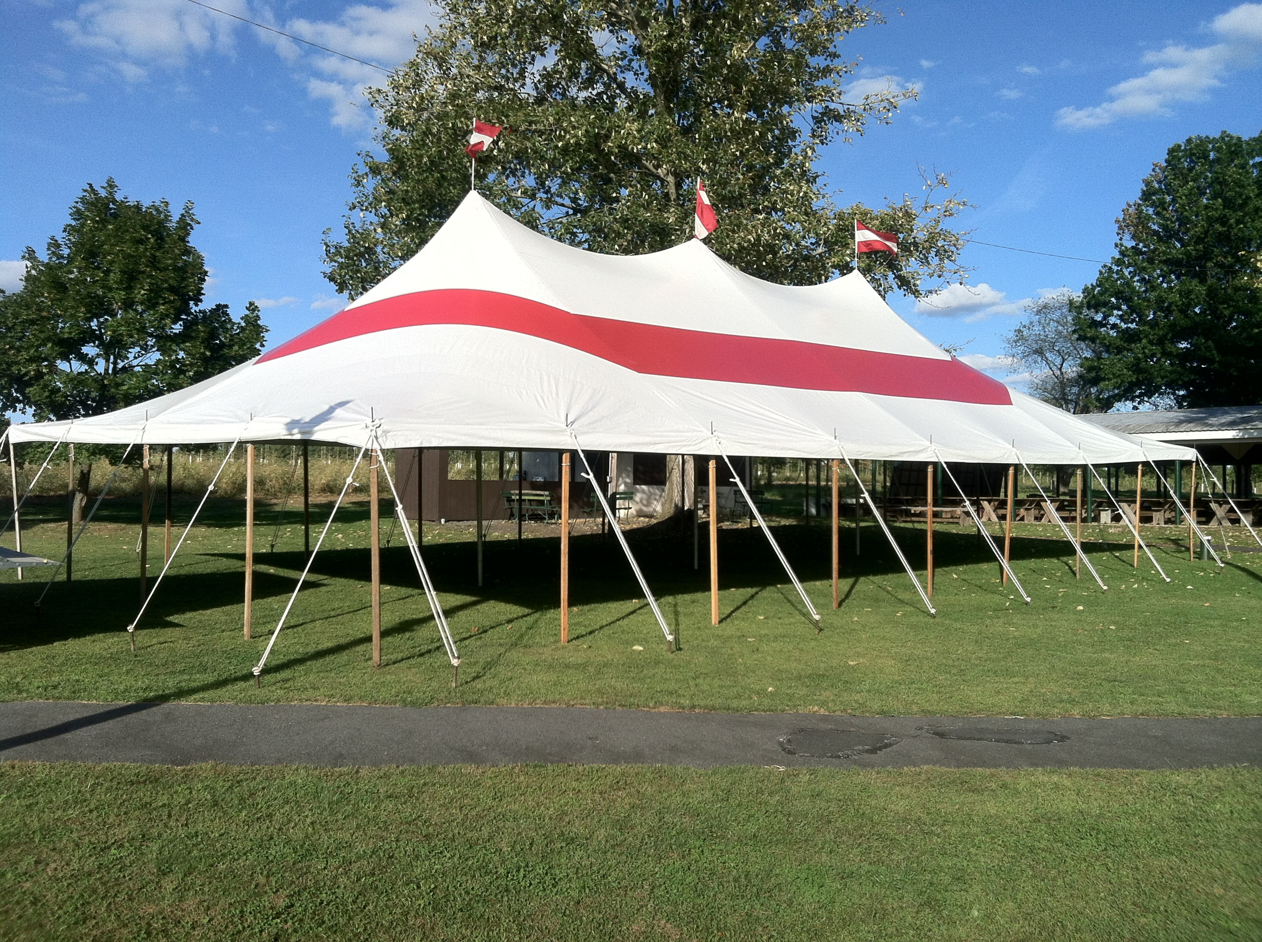 30x60 red party tent