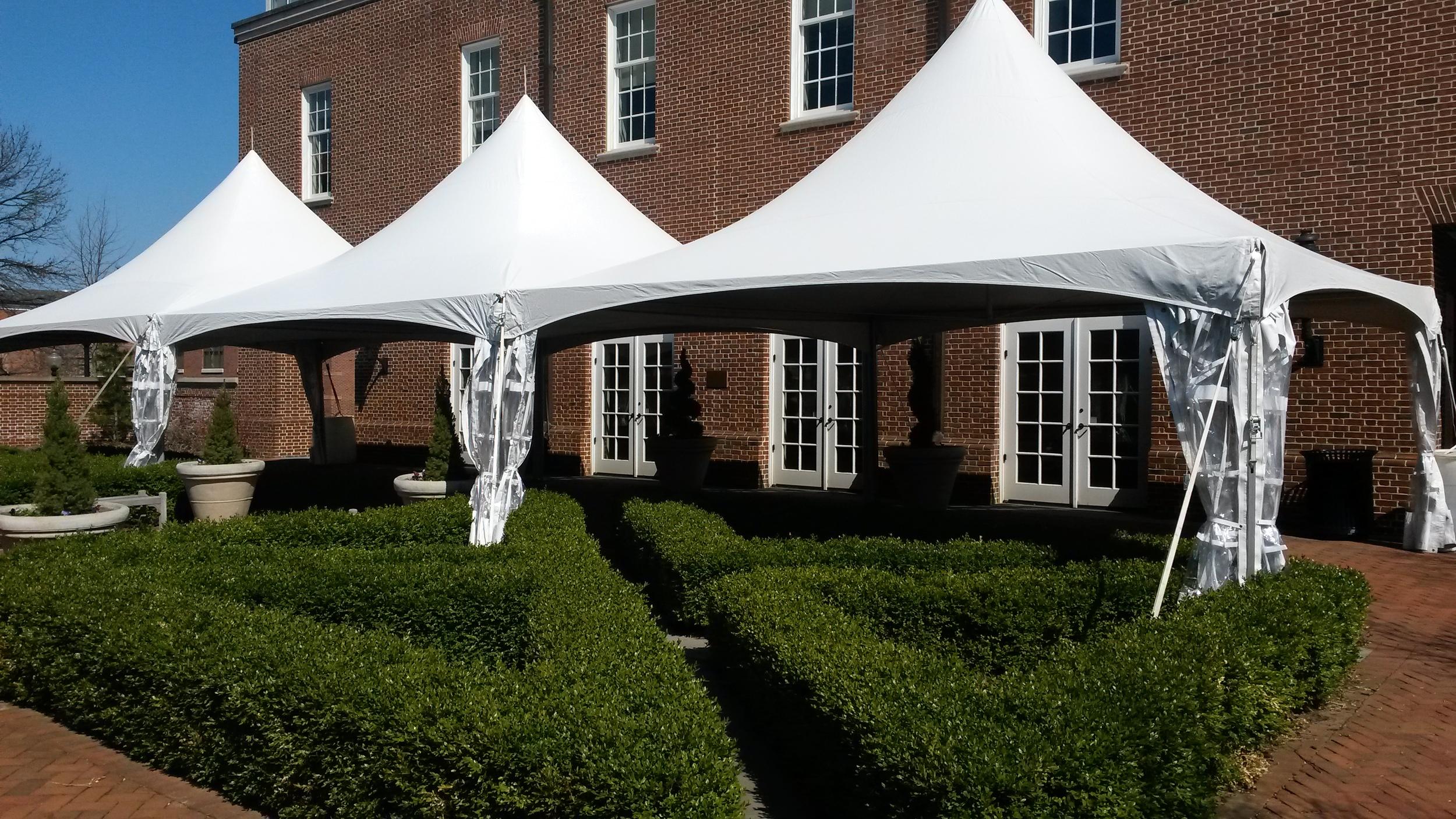 20x20 white frame tents