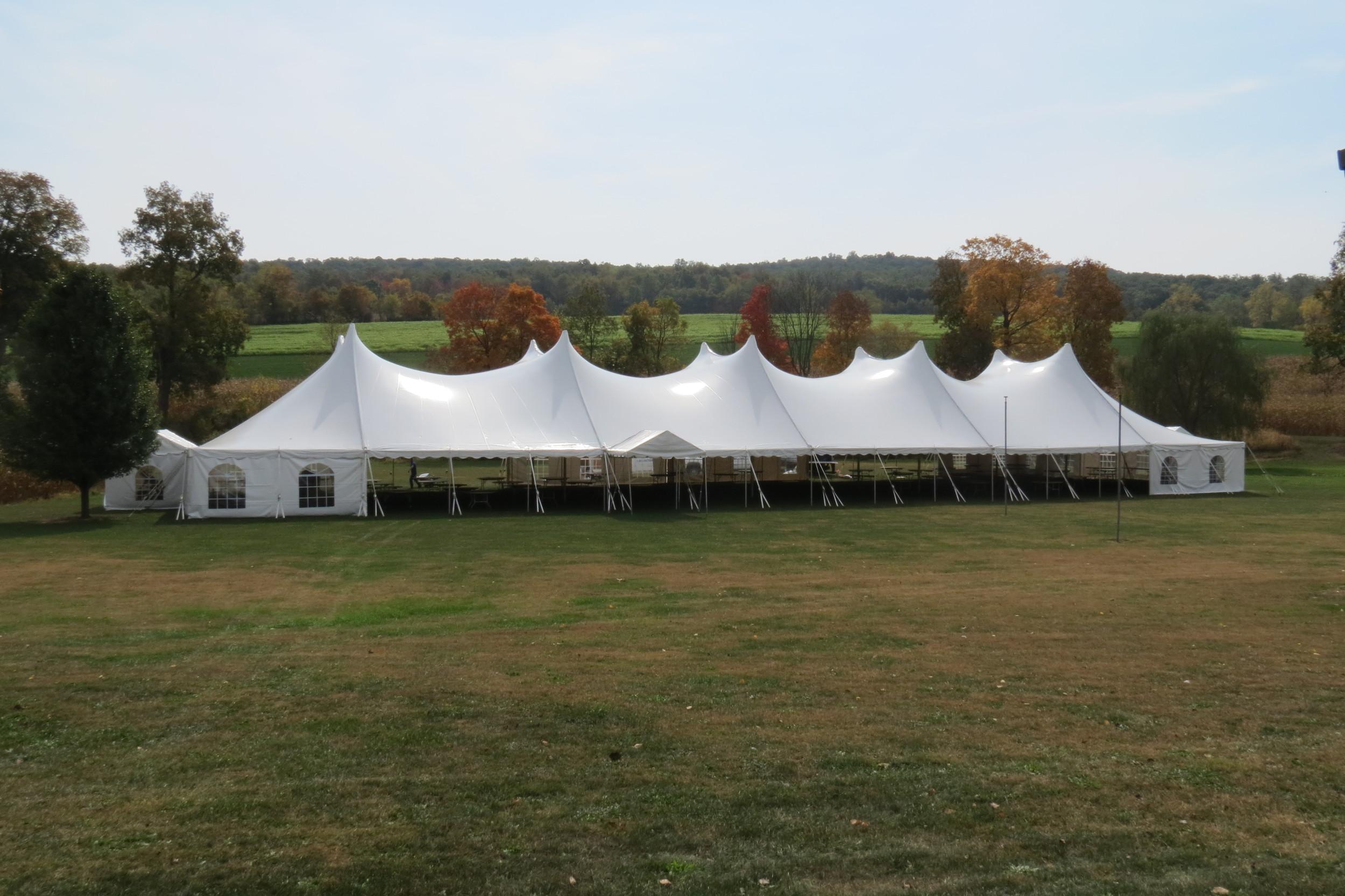 60x160 white tent