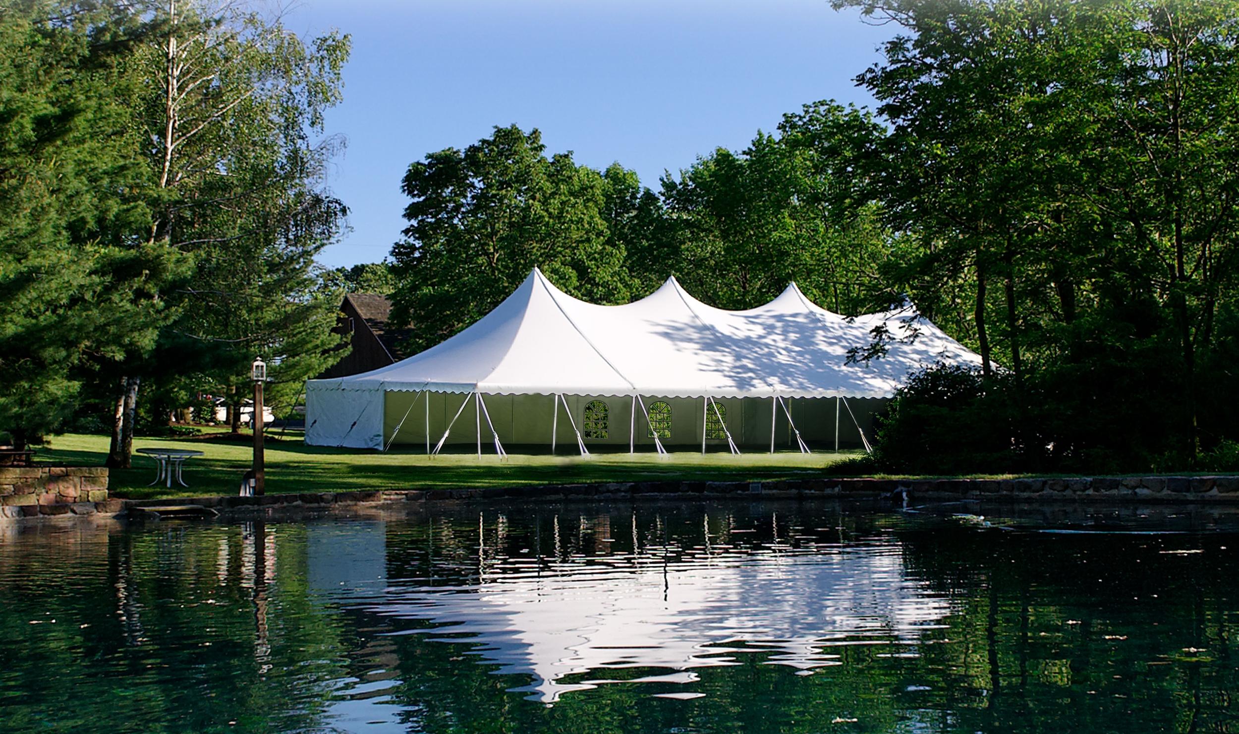 40x100 white tent