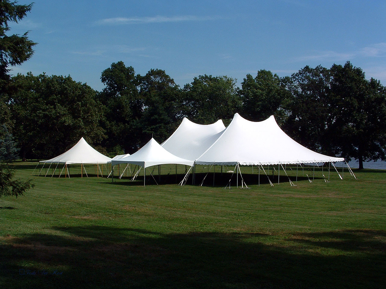 60x70, 30x30 and 10x10 white wedding tents