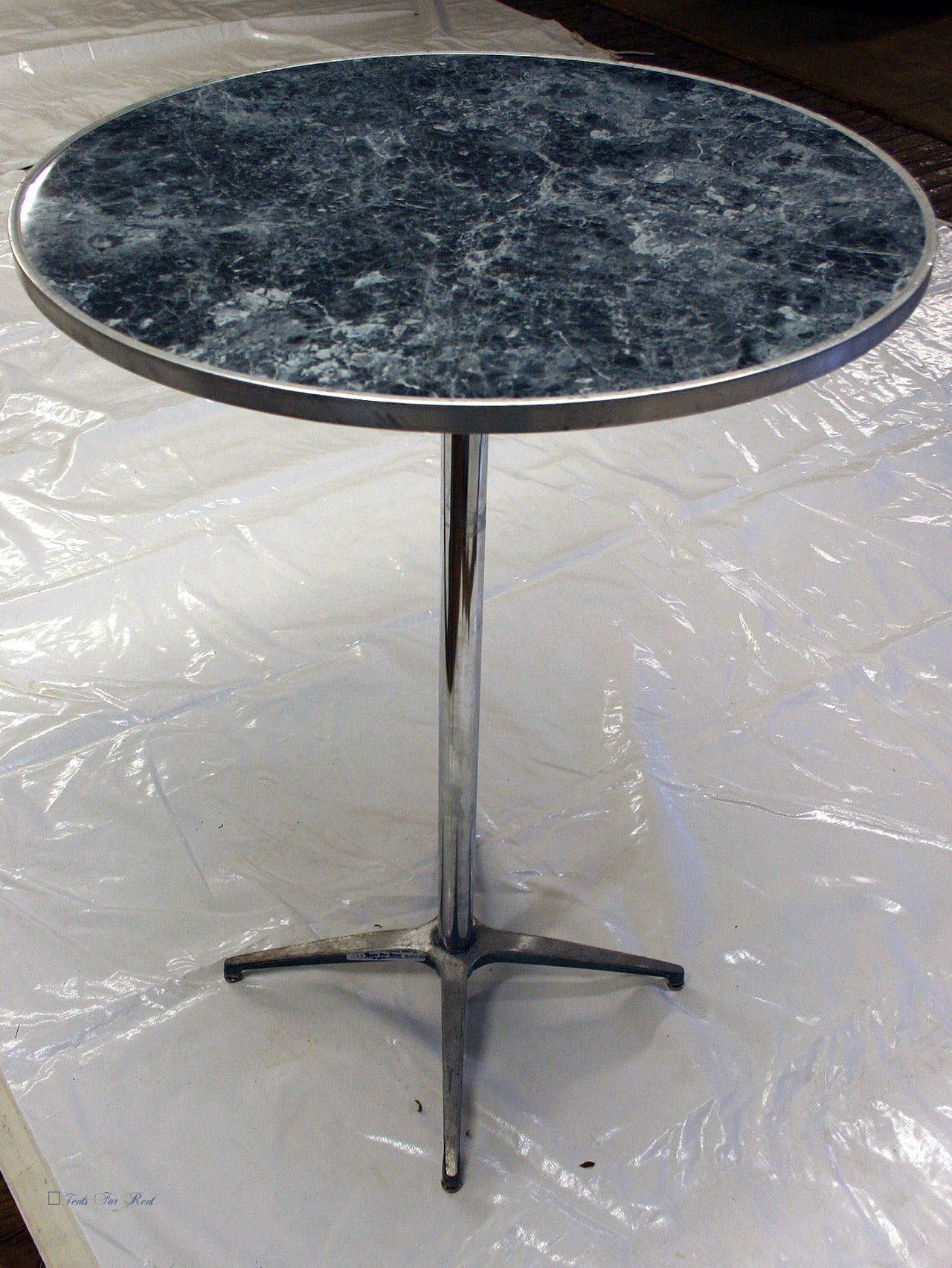 Marble high top cocktail table