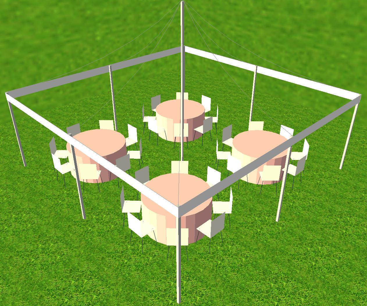 20x20 tent - Tent Setup Ideas