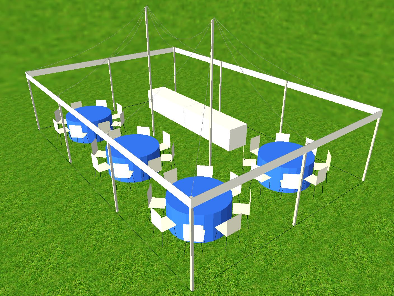20x30 tent setup idea
