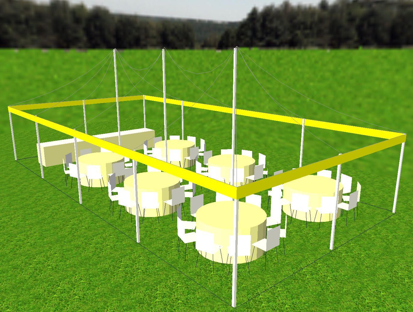 20x40 tent CAD image