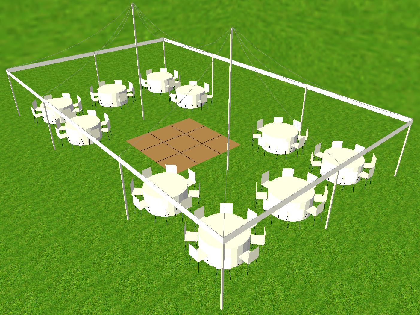 Tent Dance Floor Layout