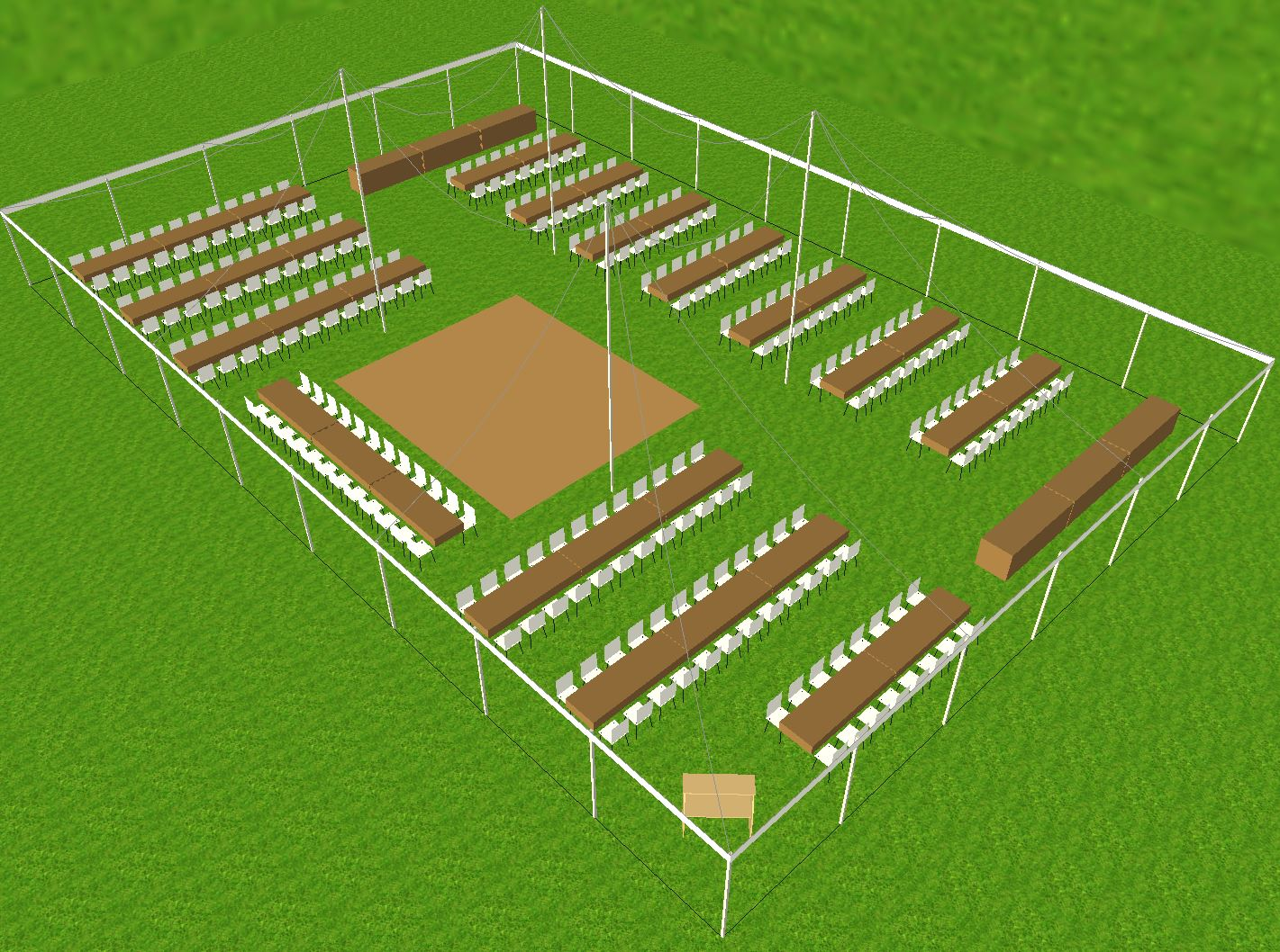 60x90 tent Large seating layout