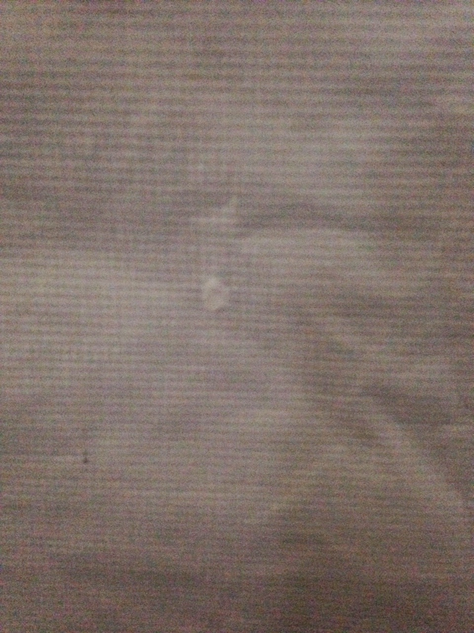 Tent fabric after pin hole repair