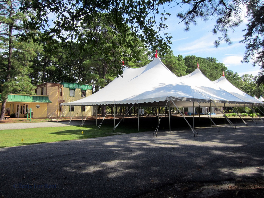 Engineered pole tents are designed to withstand all types of weather.