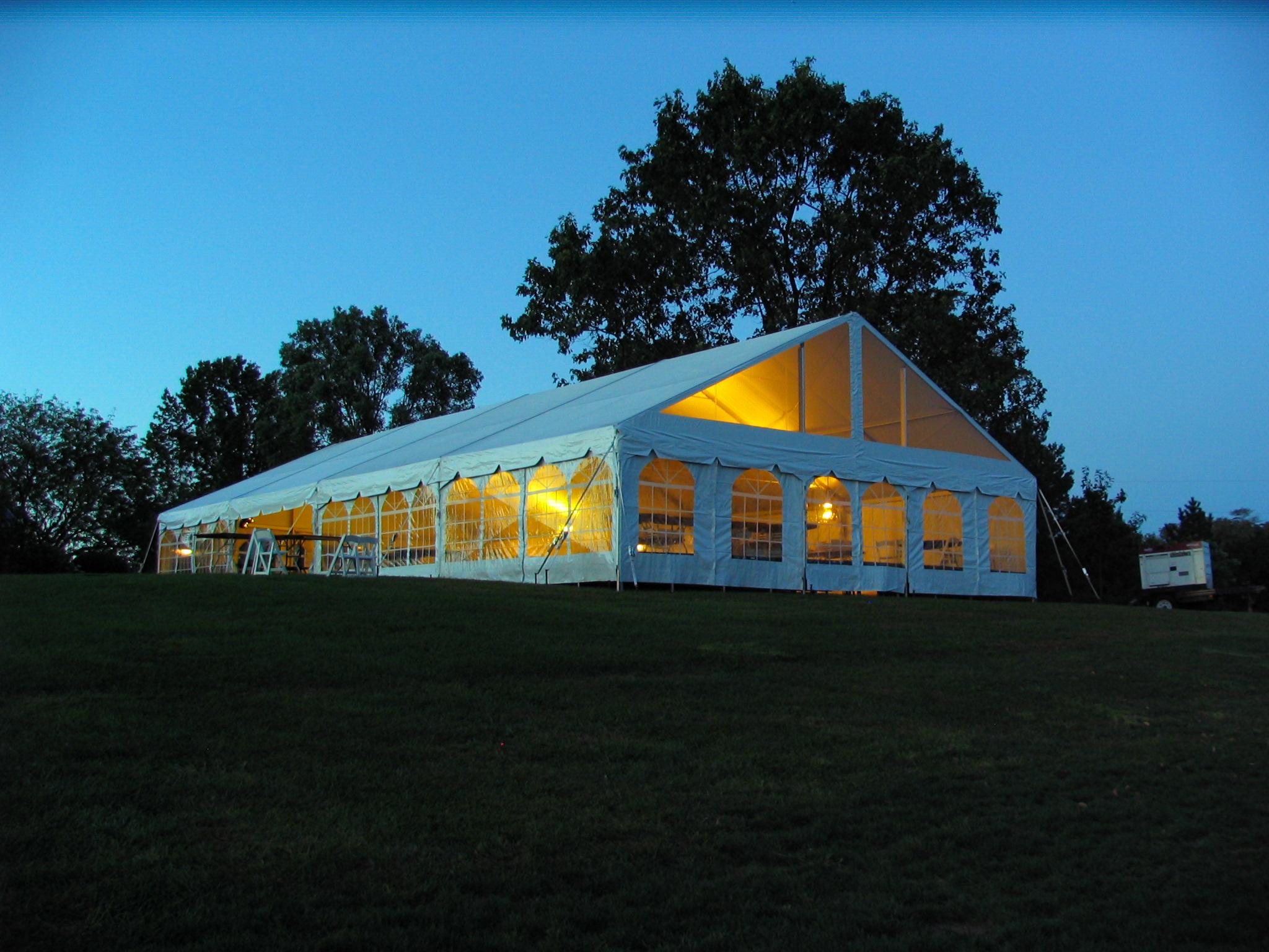 Frame tent rentals in Pennsylvania