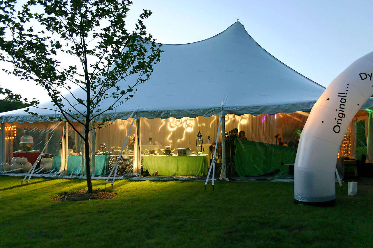 Bat Mitzvah tent with clear sidewalls