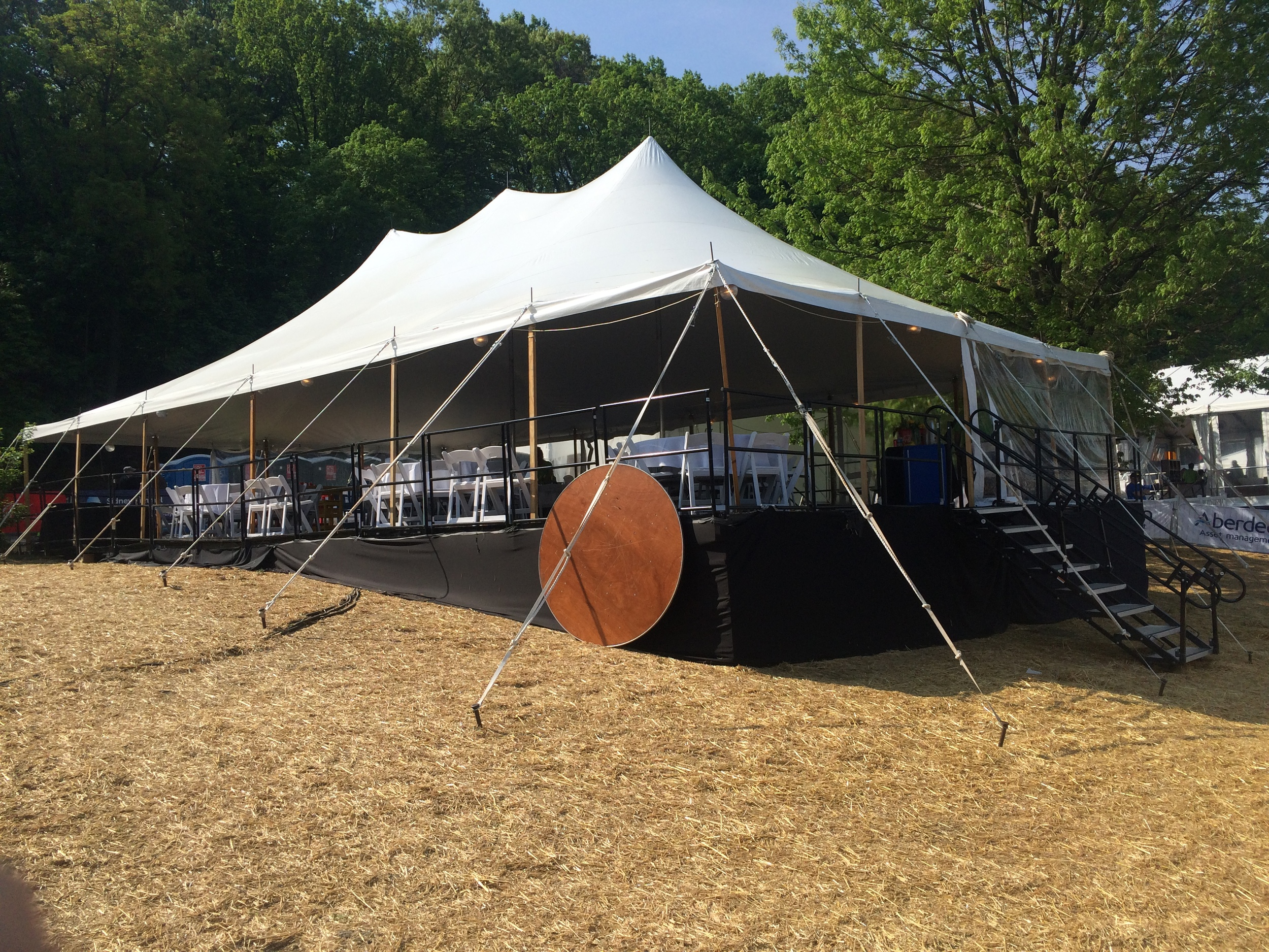 Flooring can make any area tent-ready