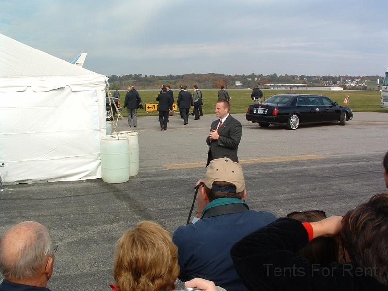 Tent for meeting for the United States President