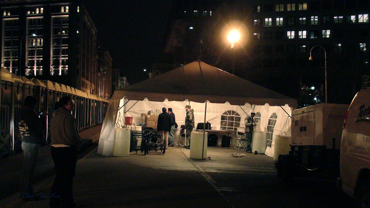 Medical tent for presidential inauguration