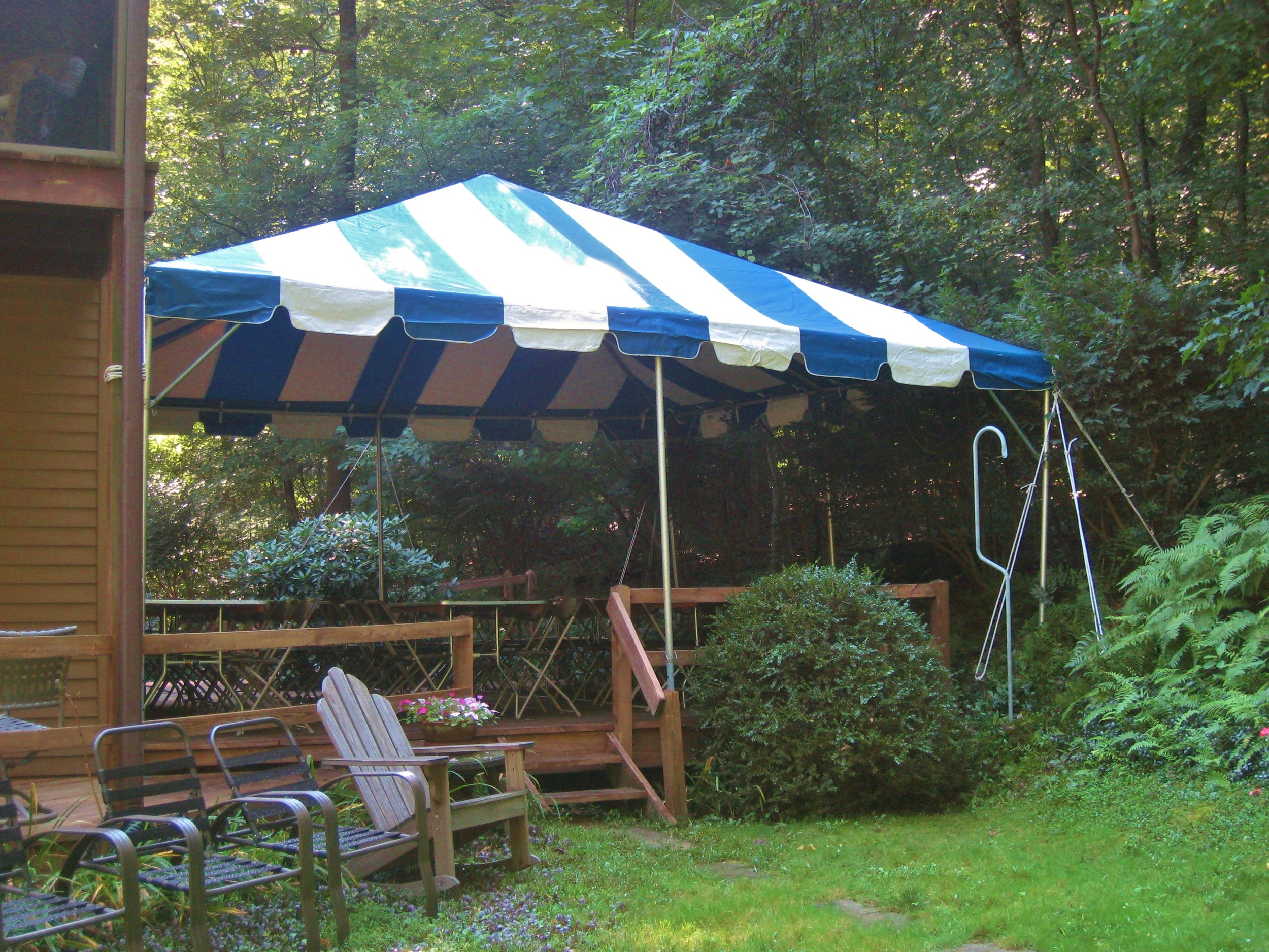 Tent over a deck