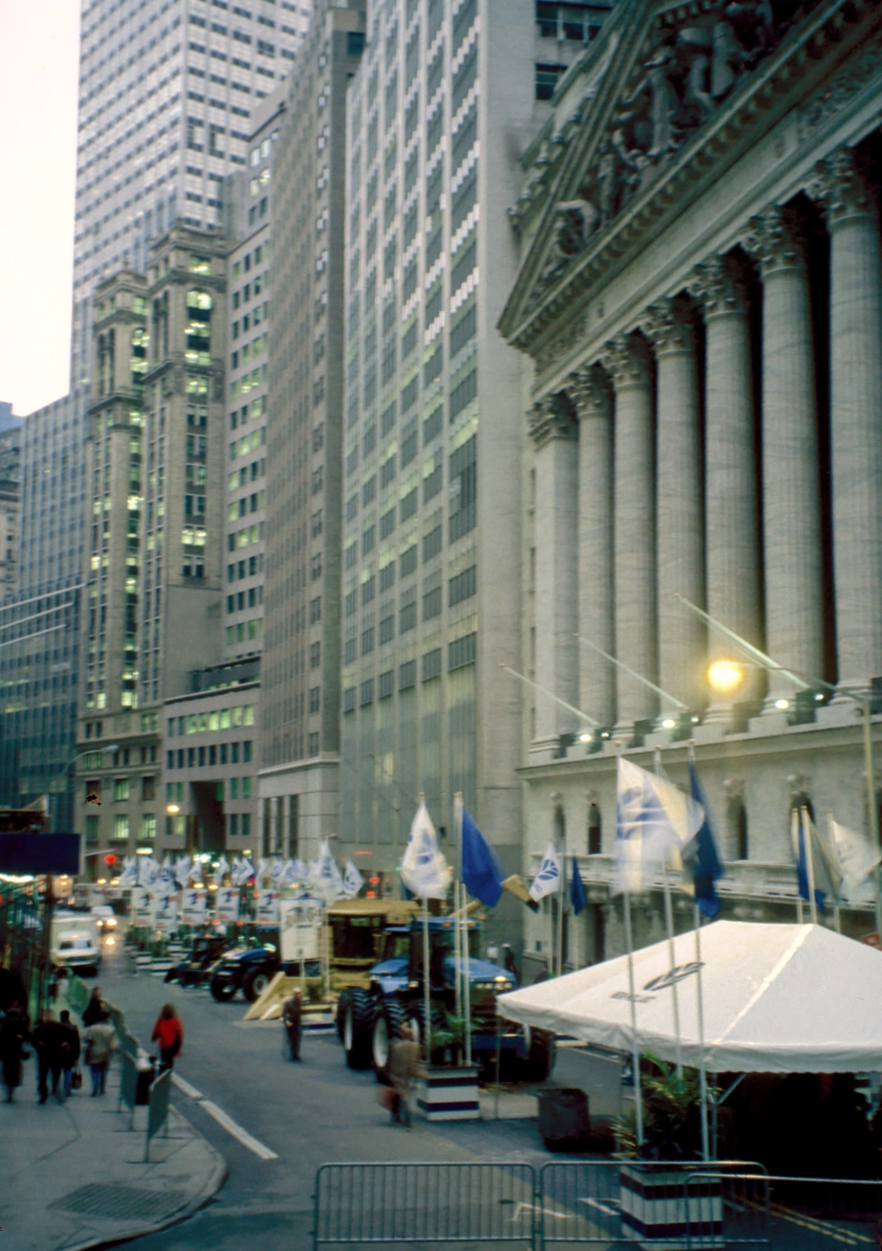 Tent on Wall Street
