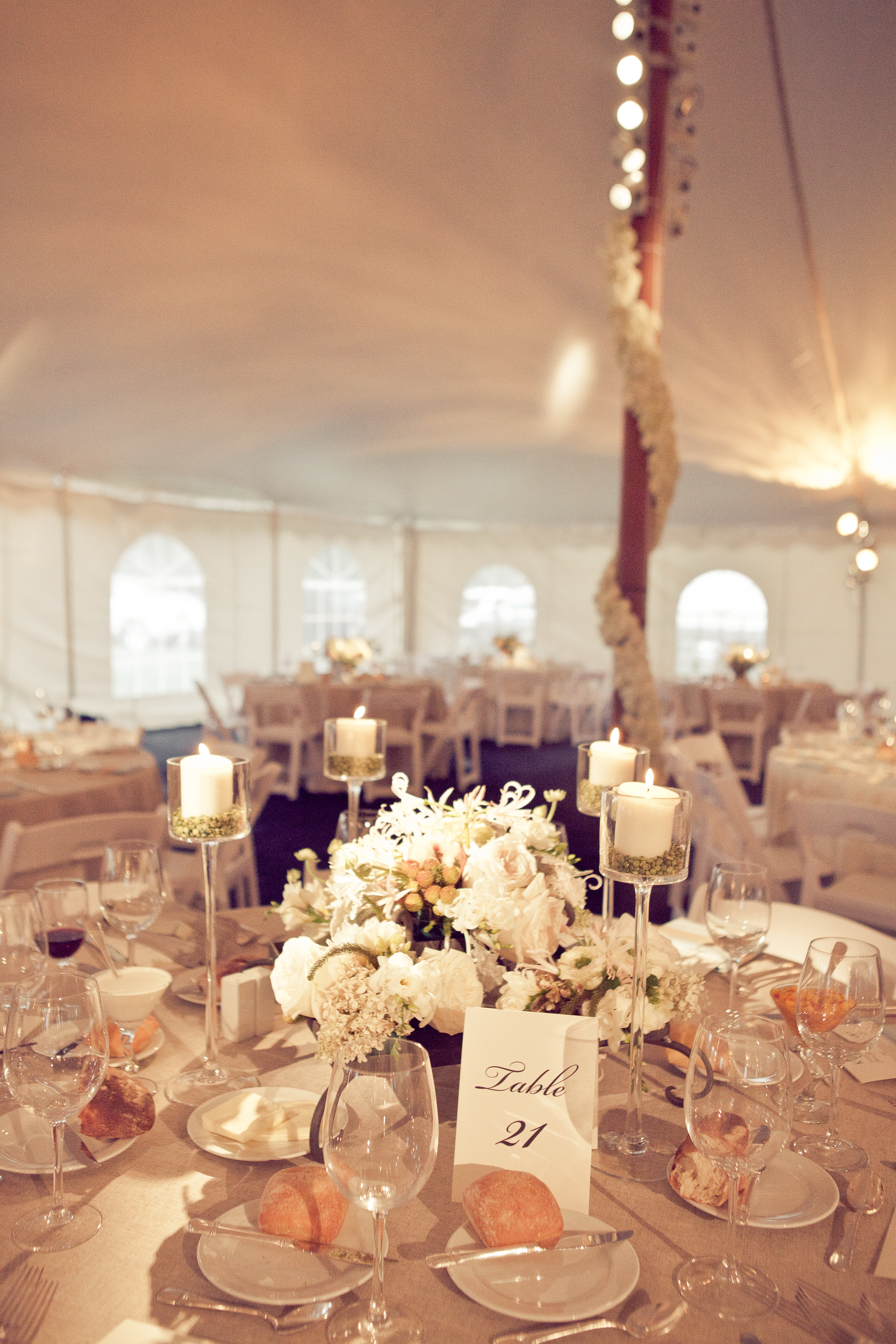 Wedding tent with air conditioning