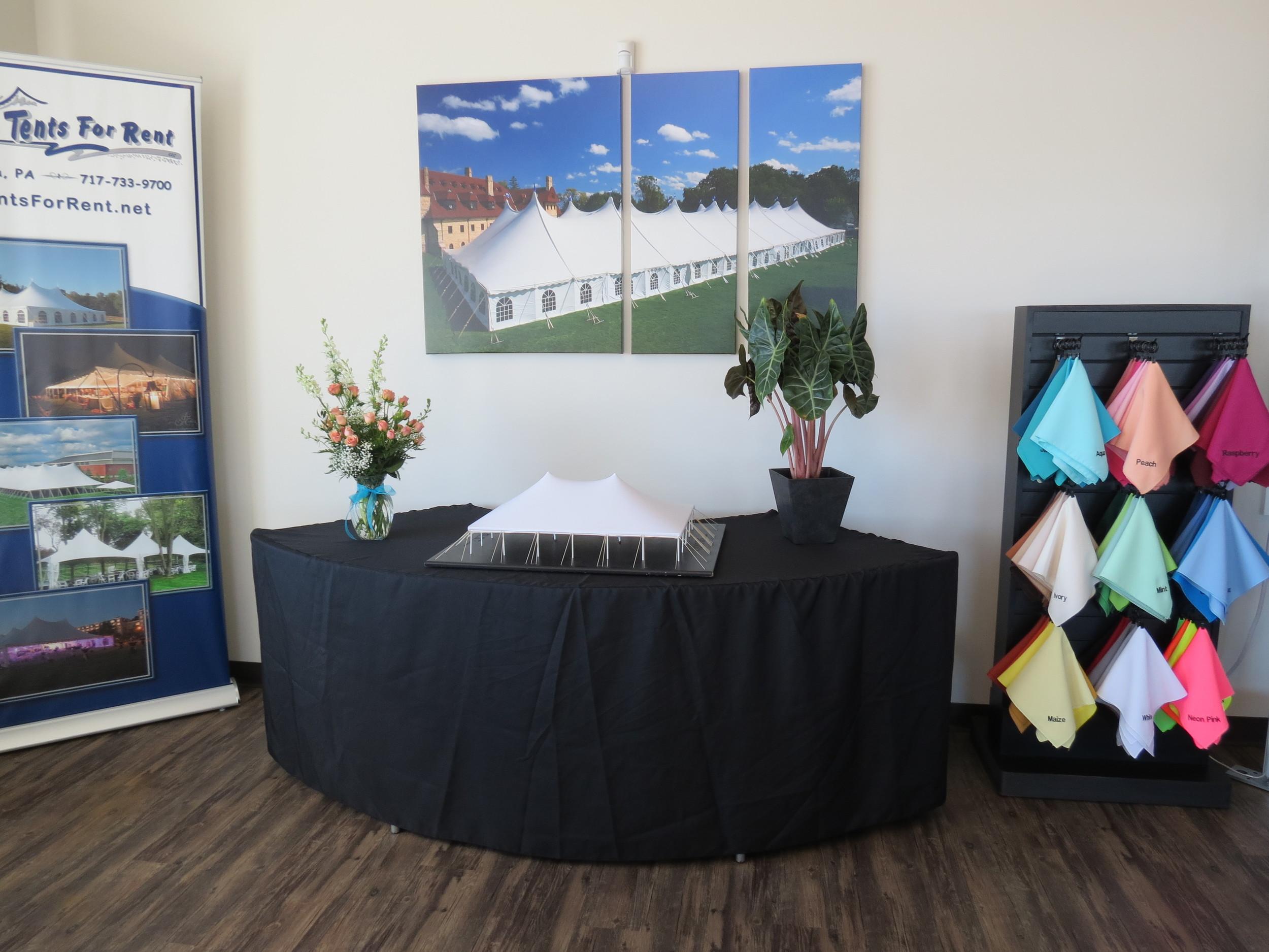 Tents For Rent showroom