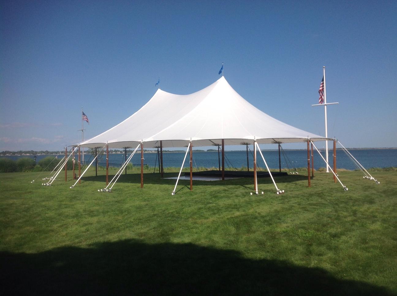 Ocean wedding tent