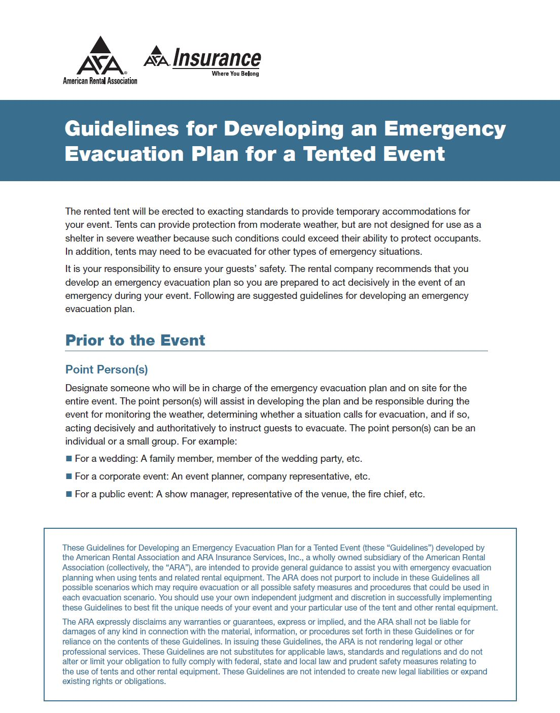 Tent Evacuation Planning