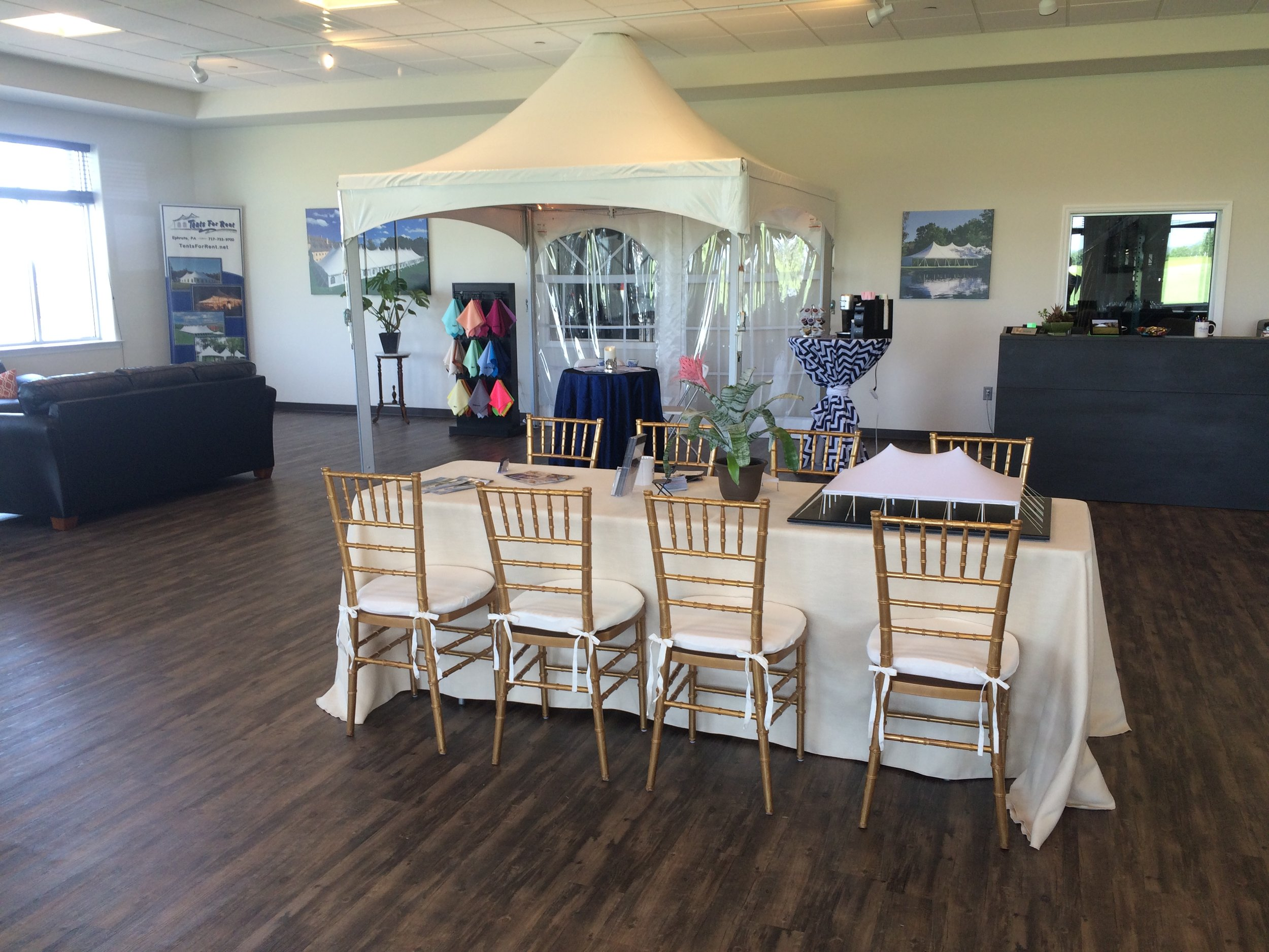 Tents For Rent customer showroom