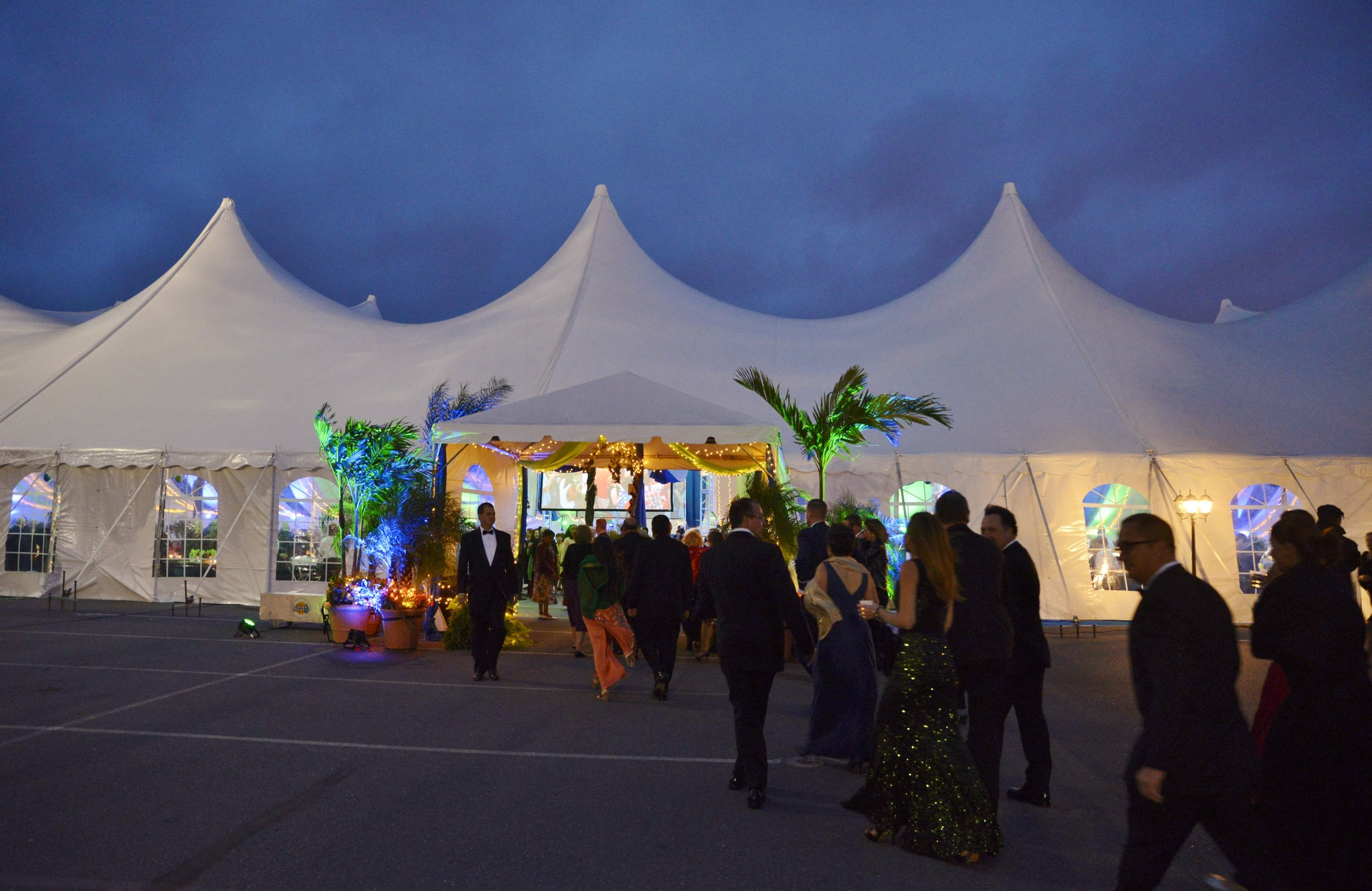 Large corporate event tent