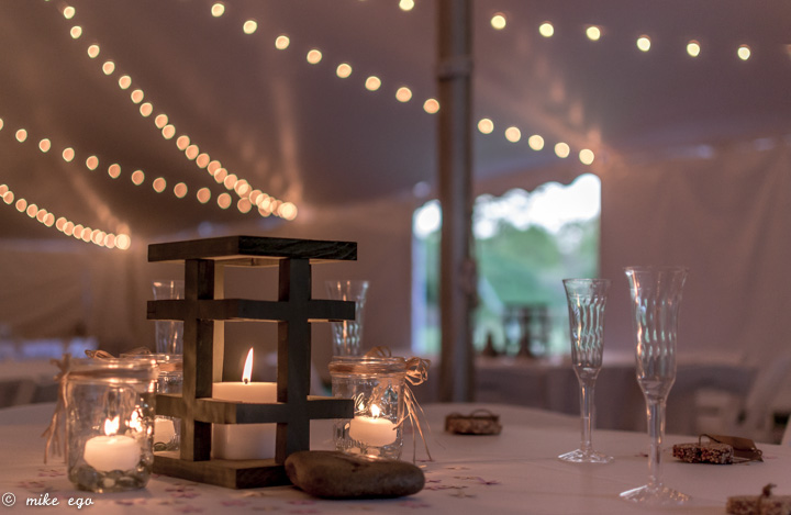Wedding cafe lighting