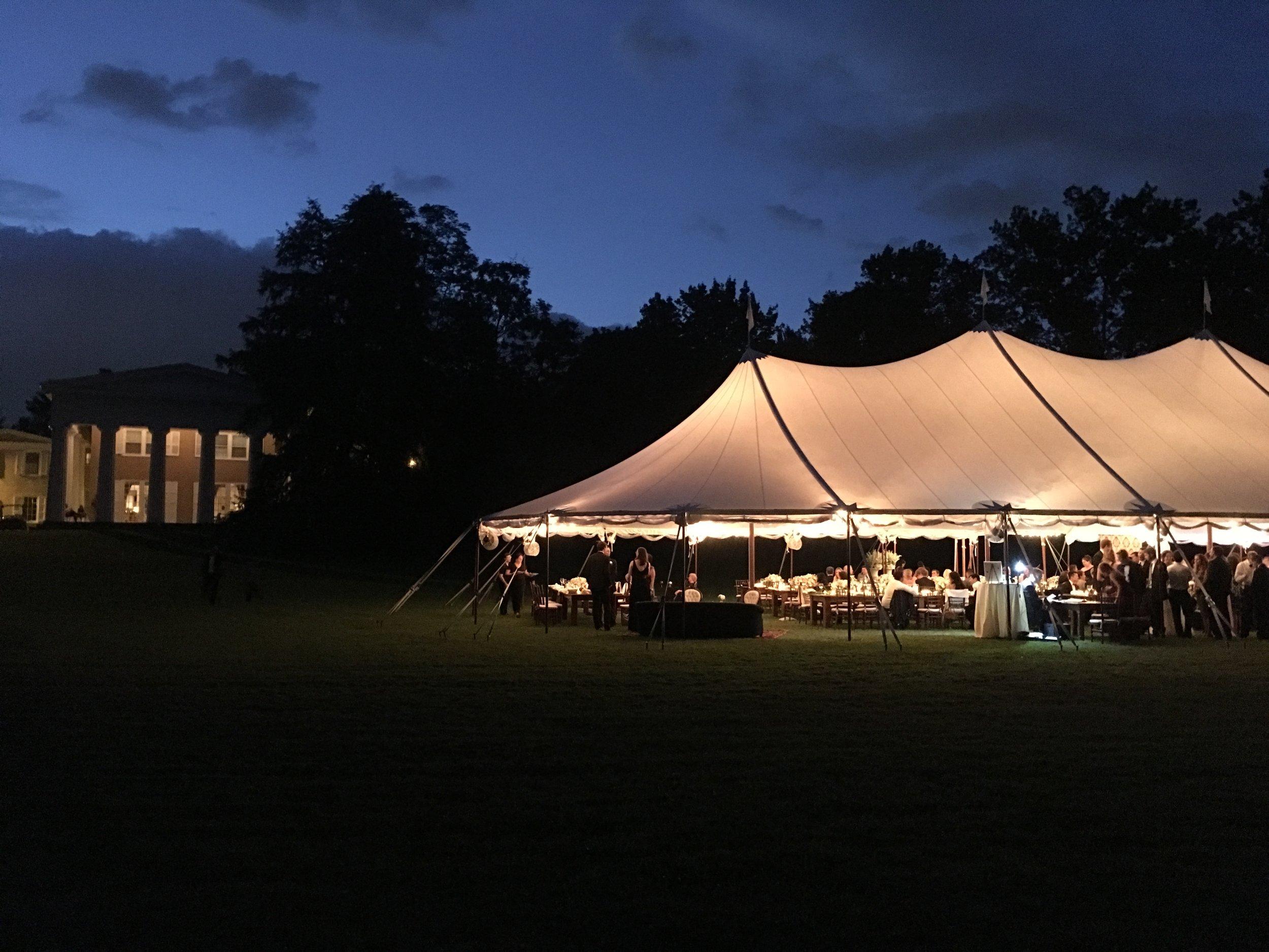 Sailcloth wedding tent