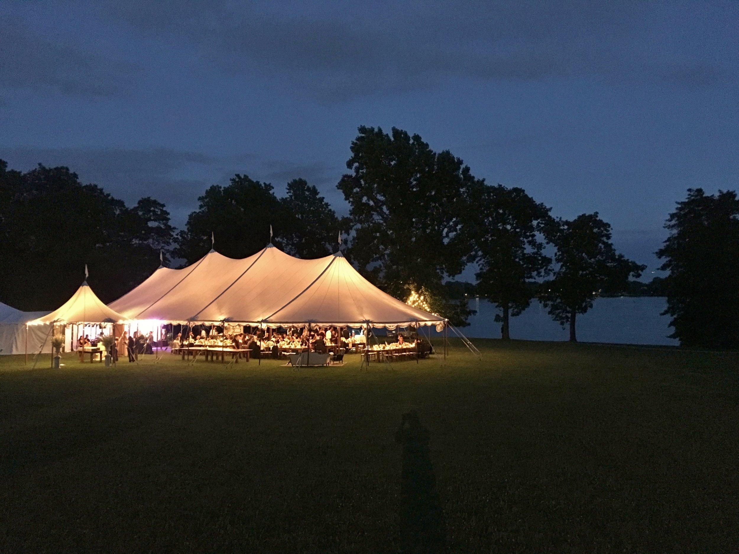 Outdoor rusting wedding tent
