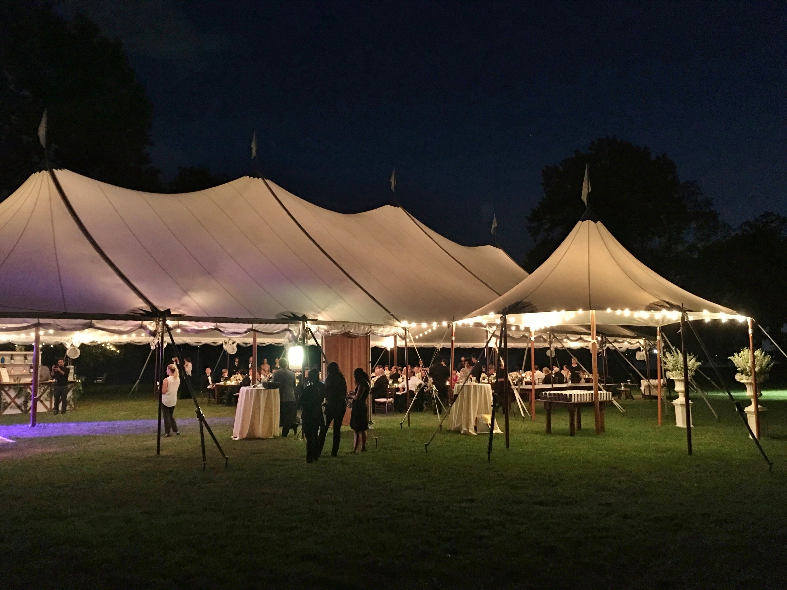 Sailcloth wedding tents for rent in Middletown