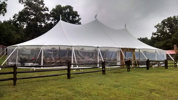 Sailcloth tent rentals in Dover DE