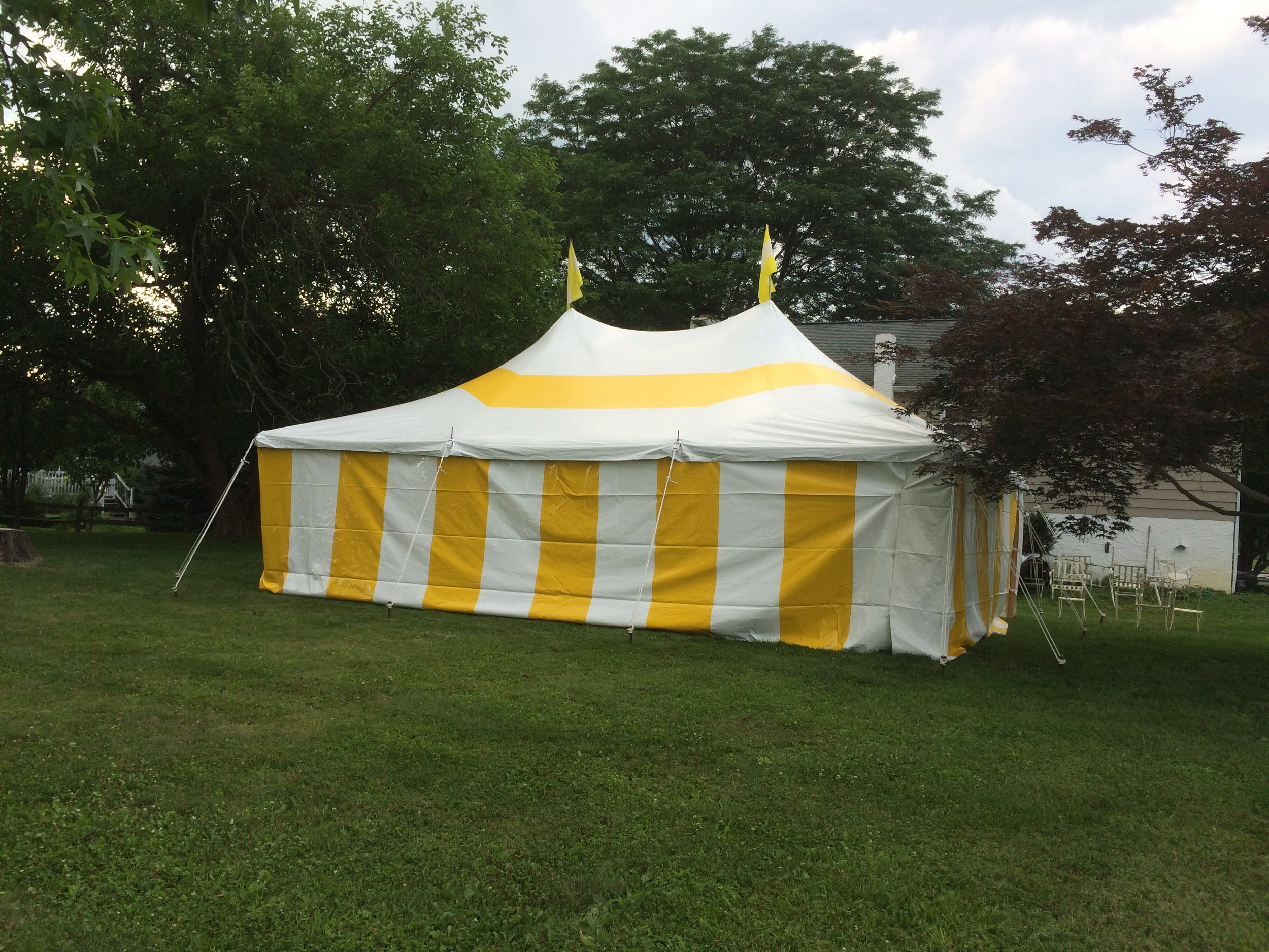Outdoor graduation party tent