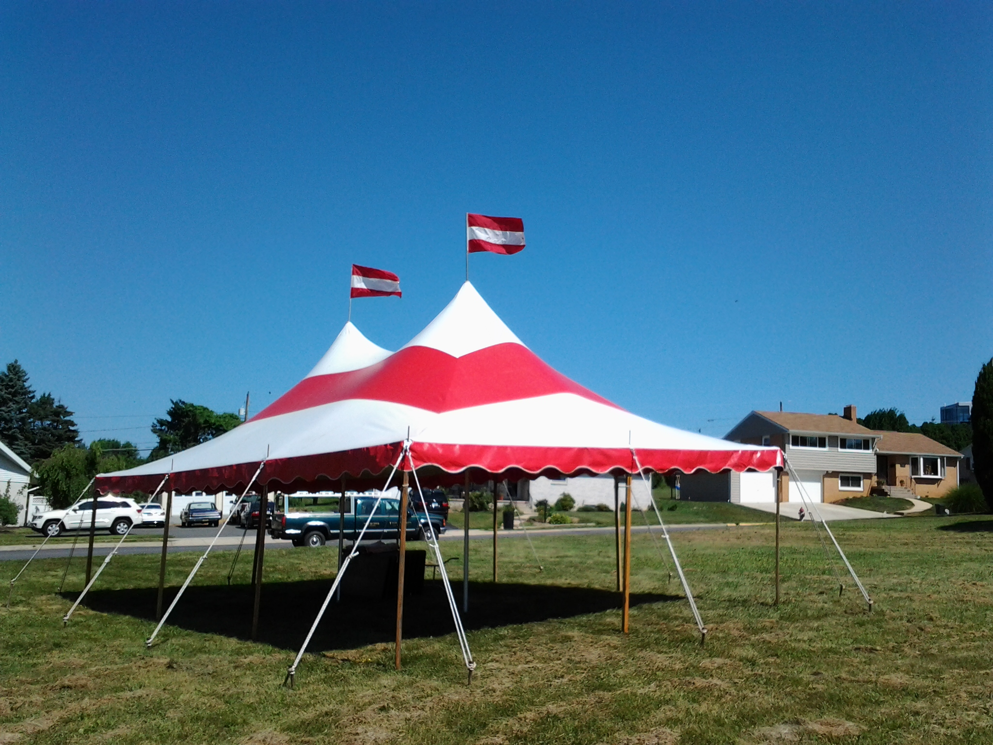 Graduation party outdoor tent