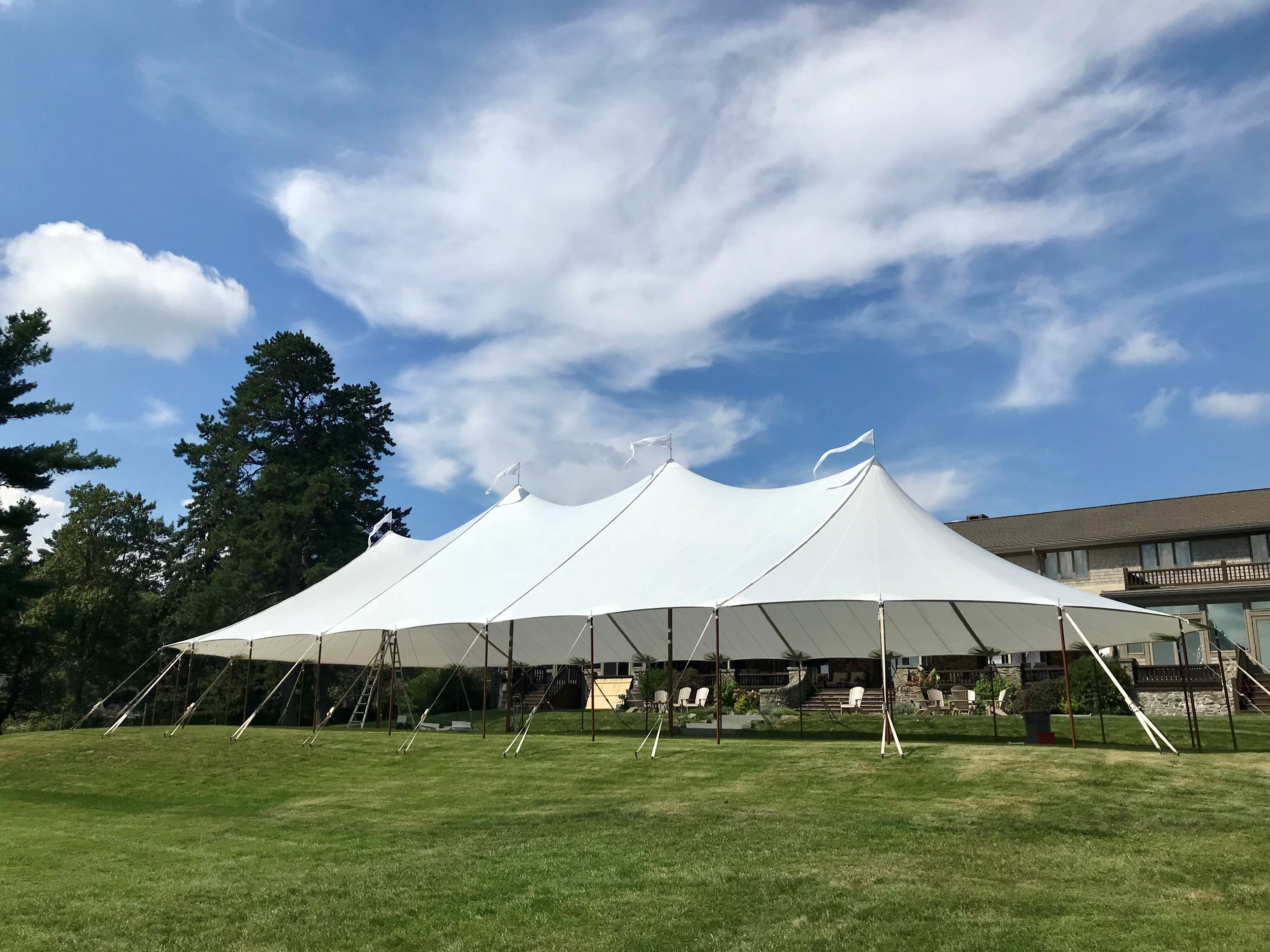 45' x 104 Sailcloth wedding tent