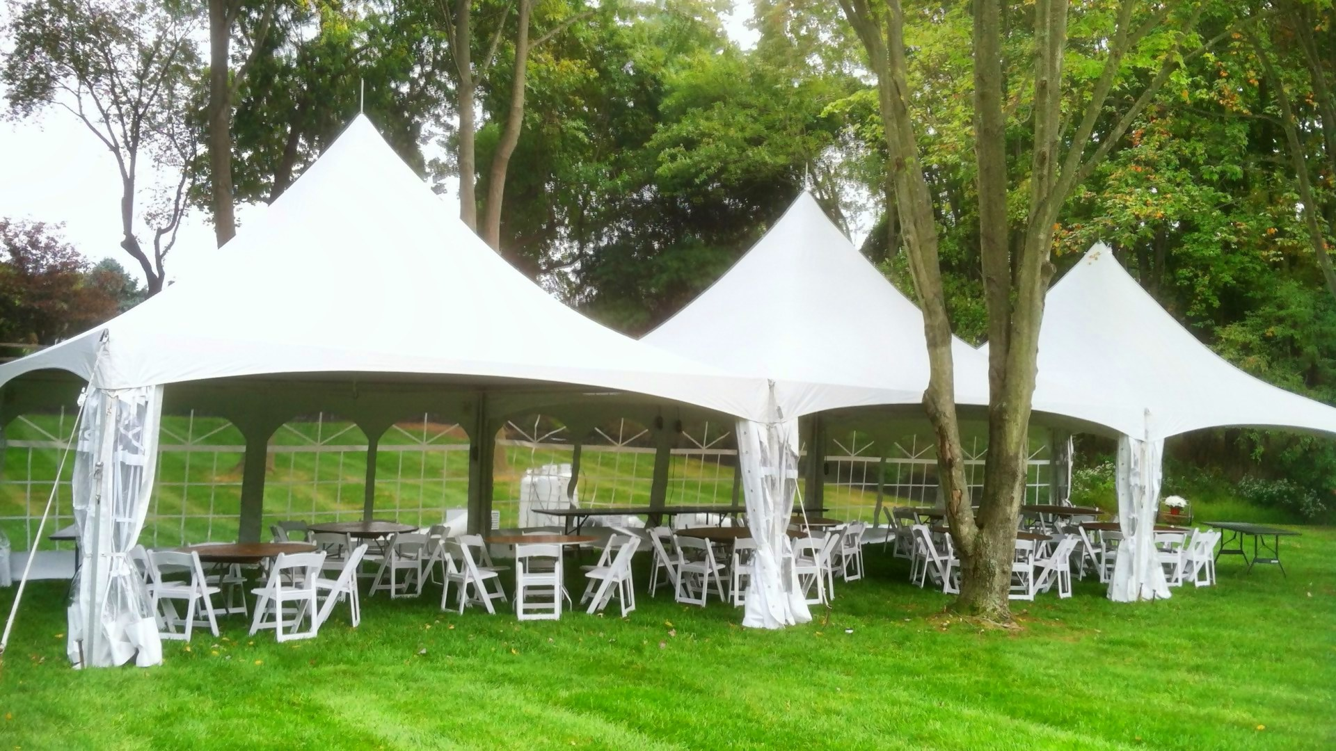 Cape May Beautiful white outdoor frame tent