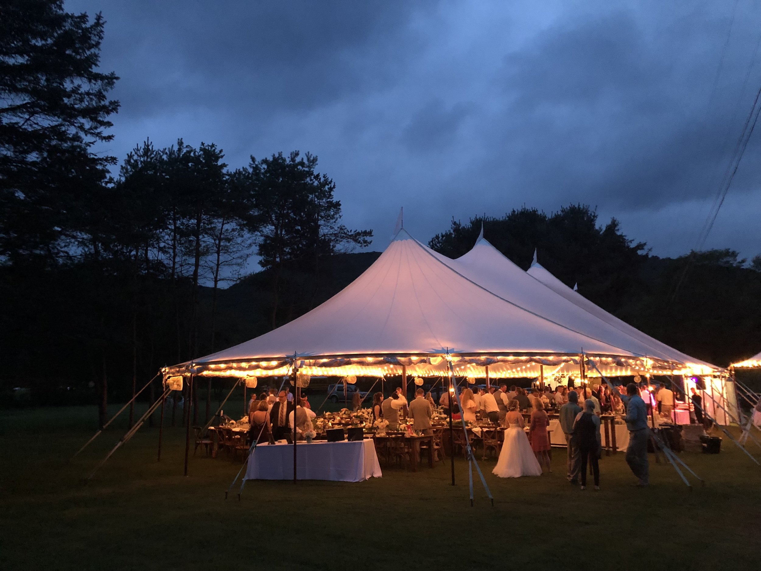 Beautiful Sailcloth evening wedding in Cape May