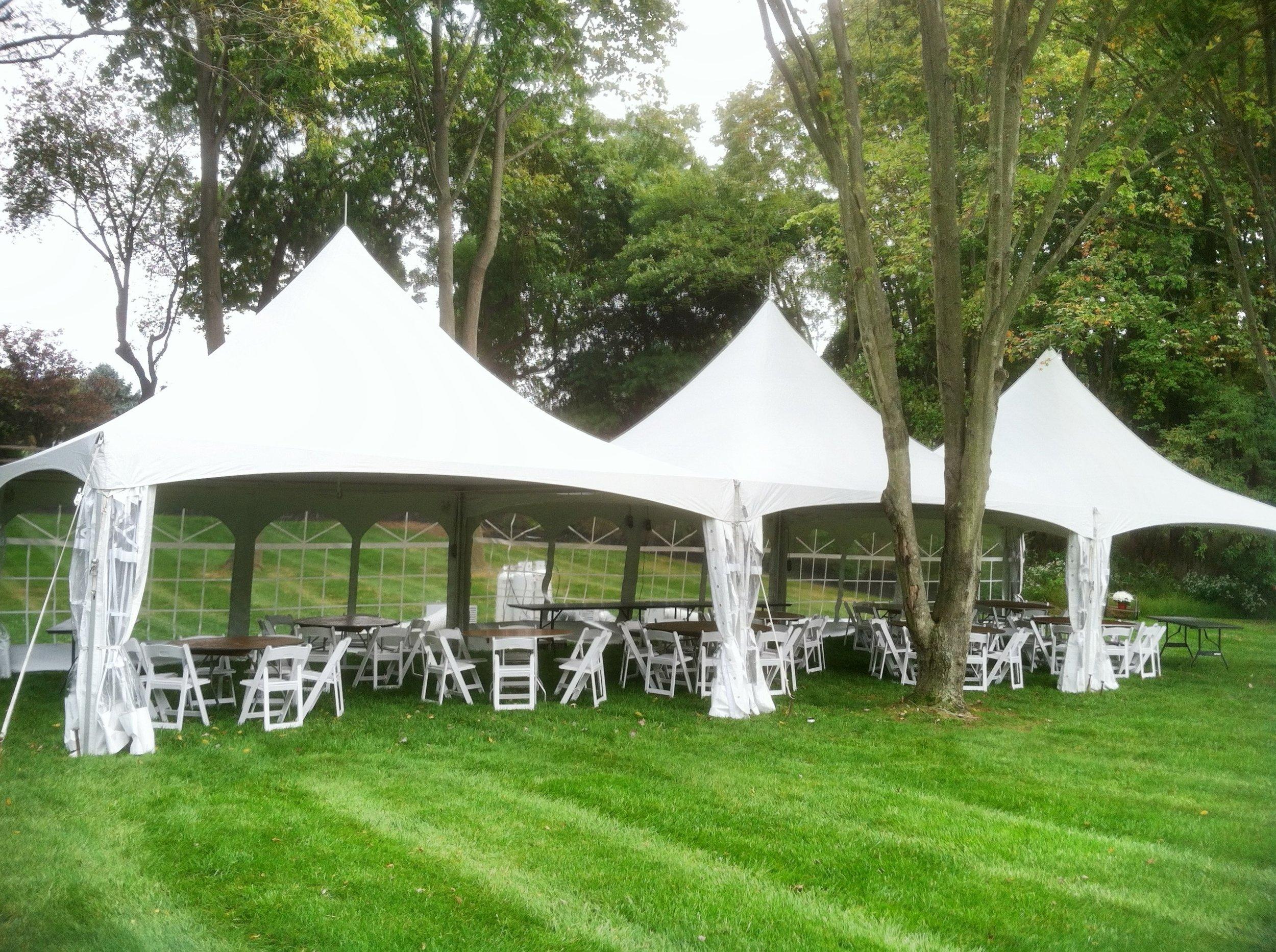 White Frame tent in Trenton, NJ