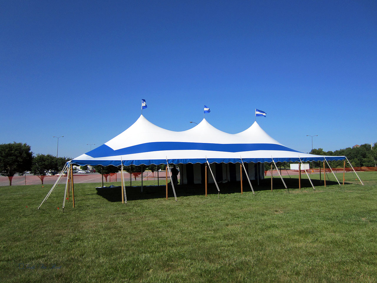 Blue Party tent for rent in Quakertown,PA