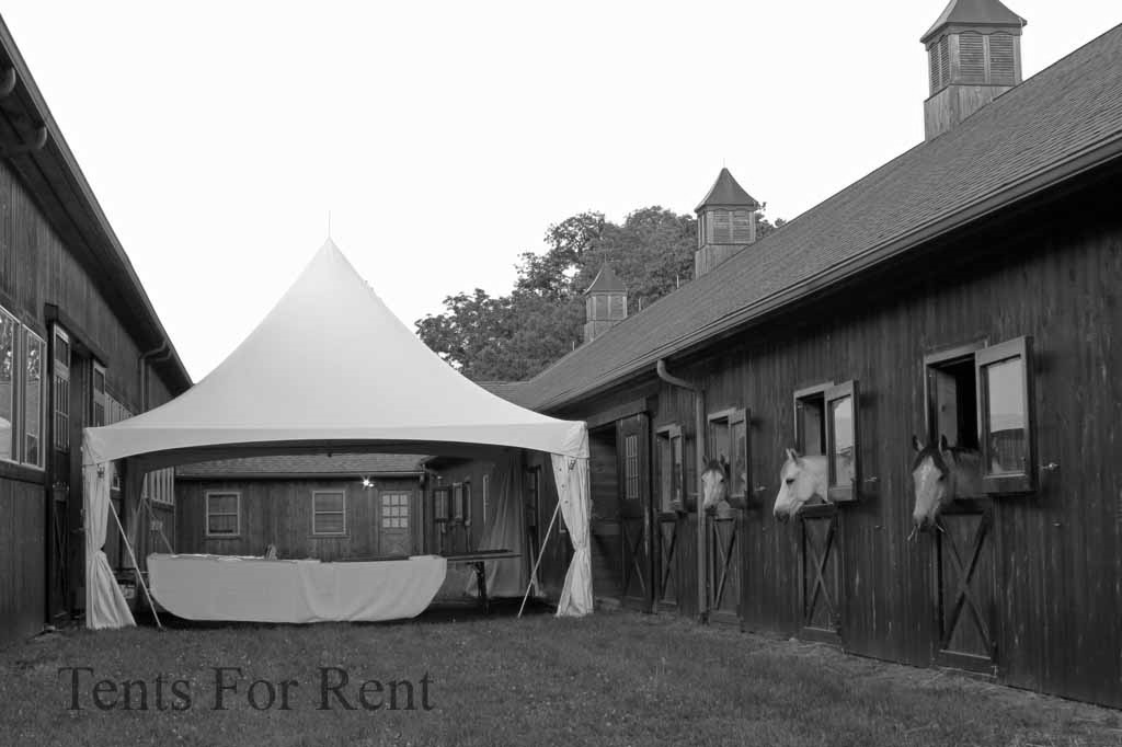 Beautiful white frame tent for rent in Hazleton, PA