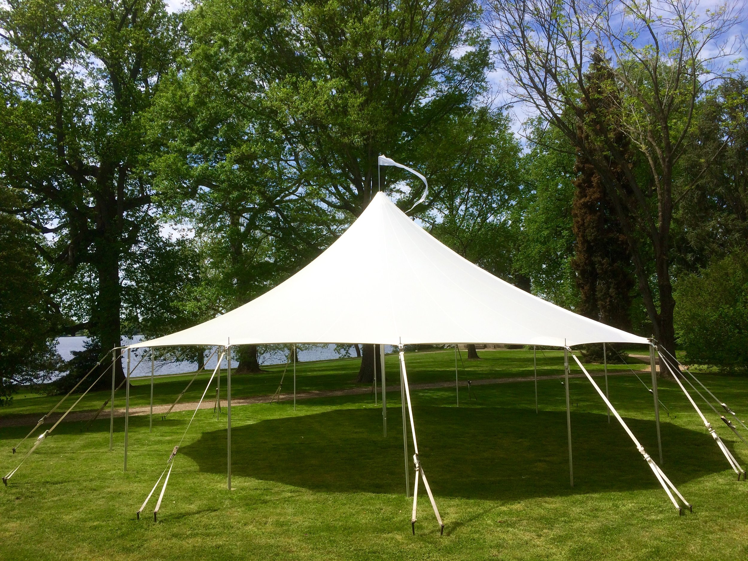 Beautiful Sailcloth tent for rent in Hazleton, PA