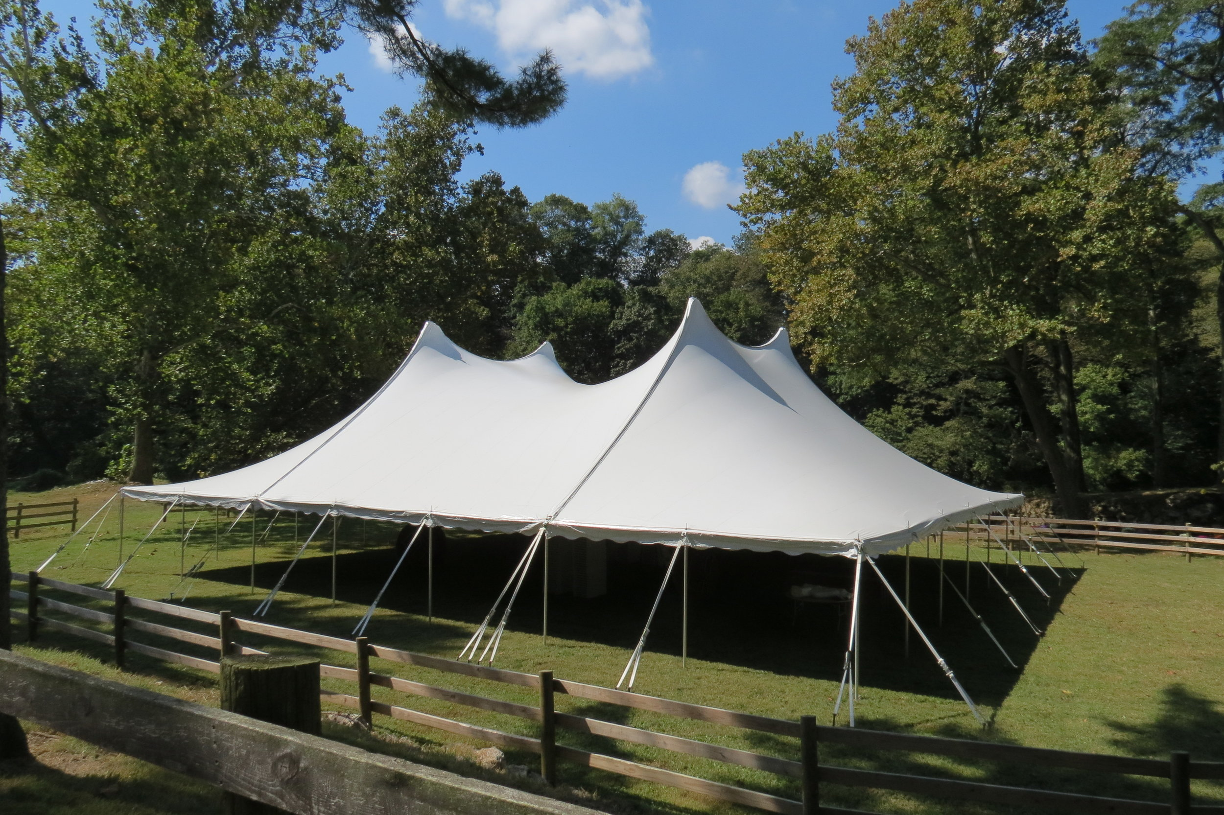 Large white tent for rent in Bethlehem, PA