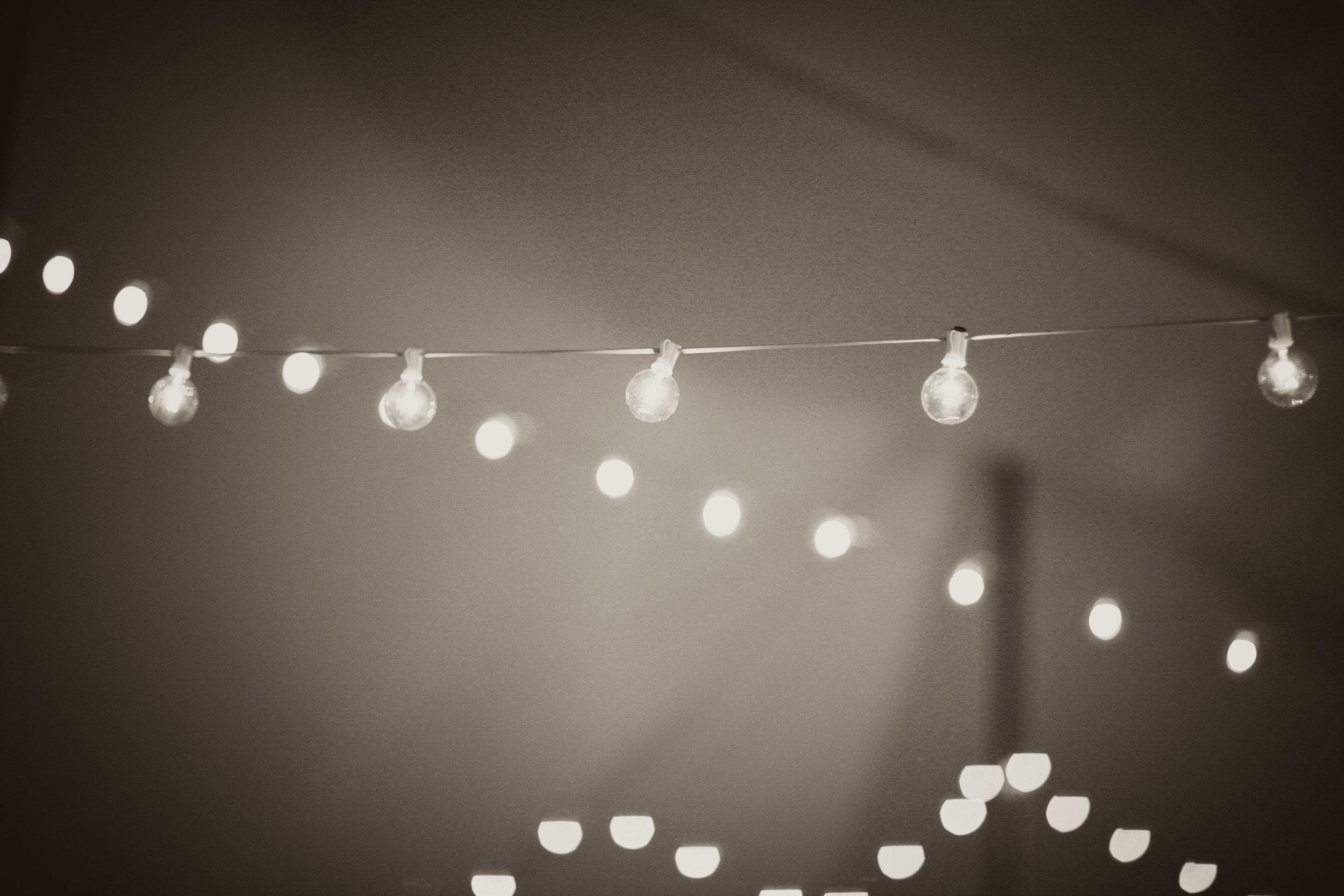 Cafe lighting in Bethlehem, PA