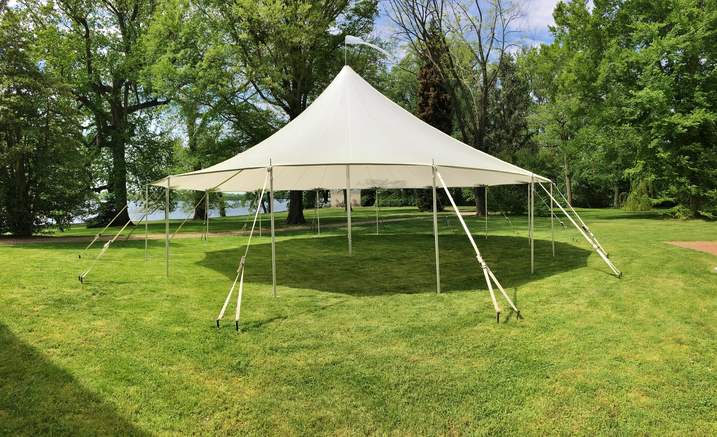 Beautiful sailcloth tent for rent in Fredrick, MD