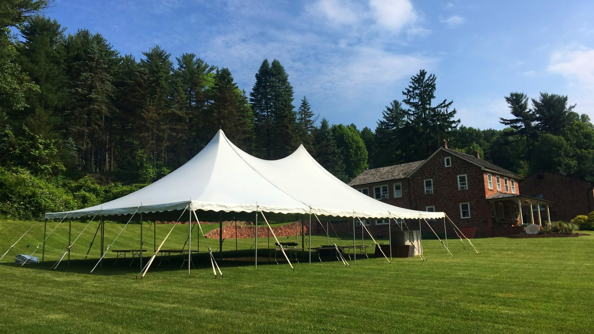 Large white tent for rent in Rising Sun, MD